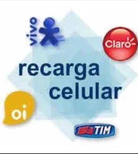 Recarga Celular Crédito Online Tim Oi Claro Vivo 10,00