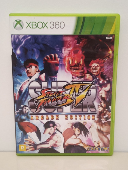 Super Street Fighter 4 Arcade Edition Xbox 360 Midia Física