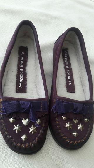 Zapatos Violeta Nro.35 Gamuza Violeta. ¡¡ Divinos !!