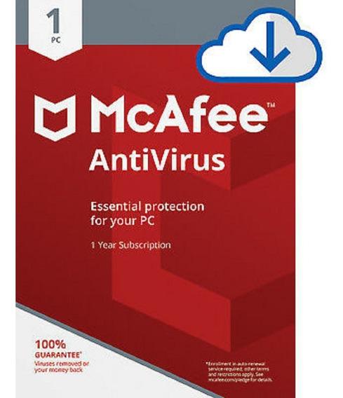 Mcafee Antivirus 1 Ano 1 Pc .. Leia Com Atenção!