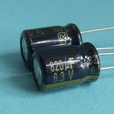 Imagen 1 de 1 de 820uf De Panasonic 6.3v Condensador De La Placa Base X10pcs
