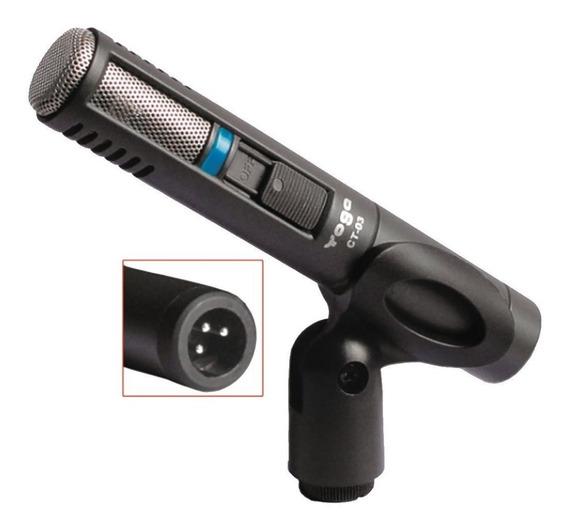 Microfone C/ Fio Condensador P/ Inst - Ct 03 Yoga Promo