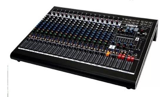 Mixer Dm16 Usb - 16 Canais / Efeitos E Interface De Gravação