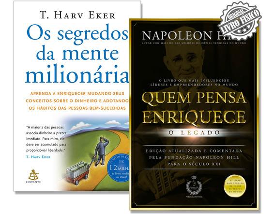 Kit Quem Pensa Enriquece + Os Segredos Da Mente Milionária