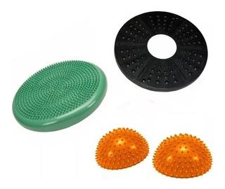 Set Kit Tabla De Equilibrio + 2 Mini Bosu + Disco Balance