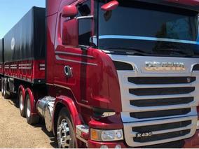 Scania R480 6x4 C/ Bitrem Graneleiro Ano 2014 Streamline