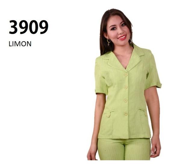 Conjunto Saco Pantalón 3909 Verde Limon Uniformes