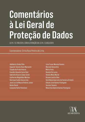 Comentários À Lei Geral De Proteção De Dados