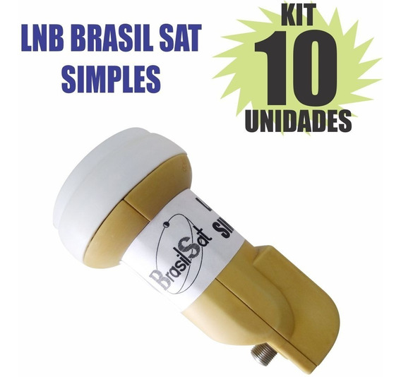 Kit 10 Peças Lnbf Ku Simples Universal Lnb Semi Novo
