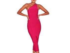 Vestido De Bandage Rosa Mexicano Talla xs