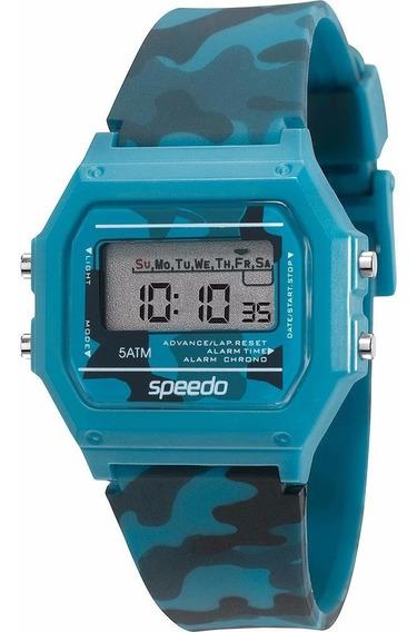 Relógio Feminino Speedo 65068l0evnp6 Digital Azul Camuflado