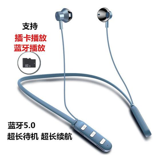 Azul Bluetoothfree Plug-in Fone De Ouvido Tipo Esporte Dupla