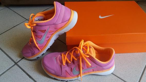 Tenis Nike Feminino Leve Training Fitsole Rosa E Laranja Neon Original N° 37 Seminovo Perfeito Parcela Em 12x Sem Juros