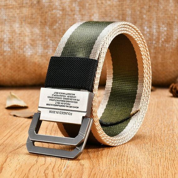 Cinturón De Doble Anillo De Nylon Resistente 120cm