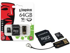 Cartao De Memoria Classe 10 Kingston Mbly10g2 64gb Multikit