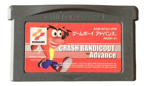 Crash Bandicoot Advance - Gameboy Advance Japones
