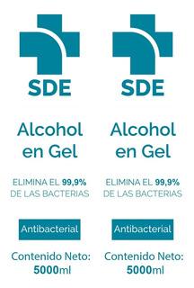 Alcohol Gel %70 5l Antibacterial Premium Certificado Envios