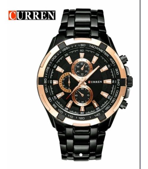 Relógio Masculino Importado Curren 8023 Aço Inox Promoção