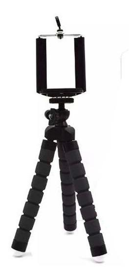 Tripé Flexível Articulado Suporte Celular Selfie Câmera Pret