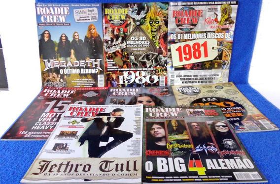 Revista Roadie Crew 8 Revistas N°155,150,147,119,151