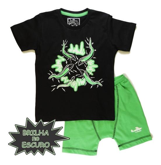 Pijama Infantil Enguia Brilha Escuro - Savannah Kids