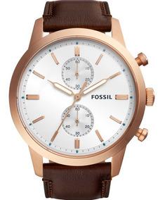 Relógio Fossil Masculino Townsman Original Nota Fs5468/1mn