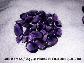 Ametistas Lapidadas - 2 Lotes Total 905 Ct. Extras - Lindas!