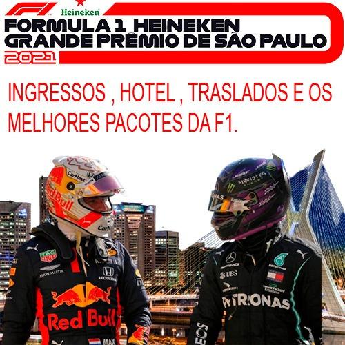 Imagem 1 de 3 de Ingressos F1 Setores A, B,m,d  Com Hotel 4* + Traslados.
