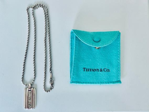 Collar Y Dije Tiffany & Co Original Colección Atlas En Plata