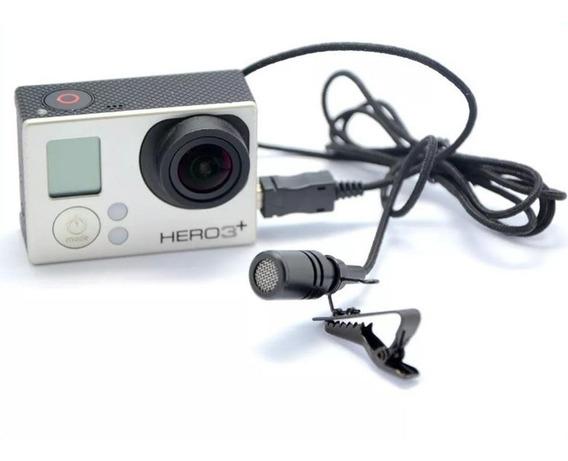 Microfone Profissional Gopro Hero 3+ E 4 Kit Lapela
