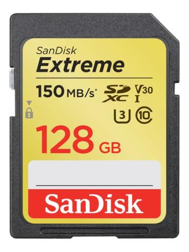 Cartão Memoria Sdxc Extreme 128gb Canon Sony Nikon Notebook