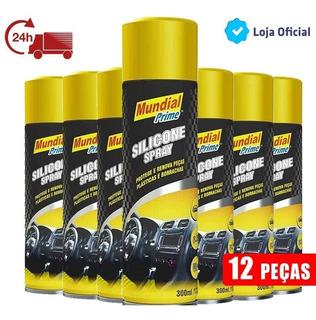 Silicone Spray Mundial Prime Couro Painel Esteira 300ml 12un