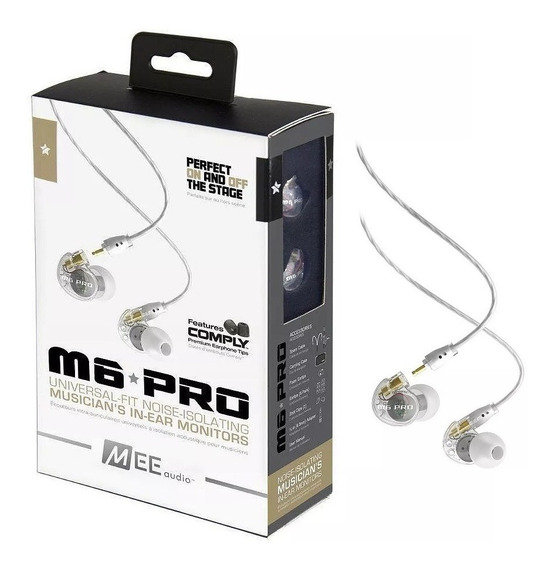 Fone De Ouvido Retorno Monitor Mee Audio M6 Pro C/ Estojo