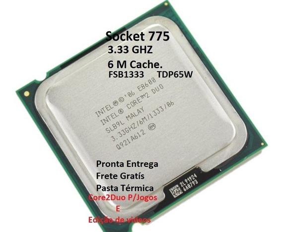 Processador775 Core2duo E8600 3.33ghz + 2memórias Semi Novo
