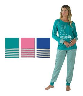 Pijama Dama Invierno Pantalón Y Manga Larga María Liz 2029