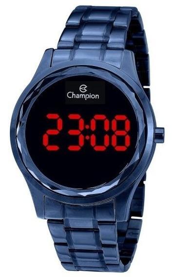 Relógio Champion Lançamento Digital Azul Redondo Cx E N.f.