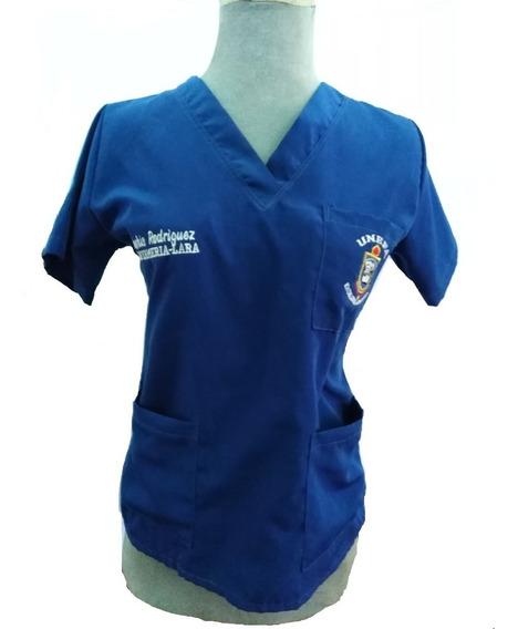 Uniforme Complet Medico Enfermeria Antifluidos Bordado.free