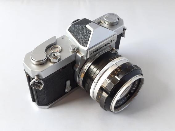 Câmera Analógica Nikkormat Ft Com Nikkor 1.4/50 E Acessórios