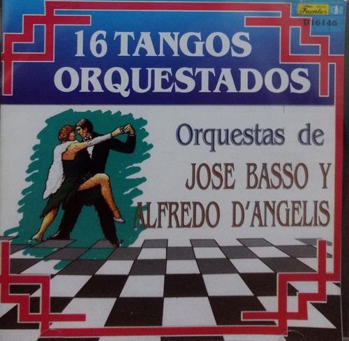 José Basso Y Alfredo De Angelis-16 Tangos Orquestados Cd