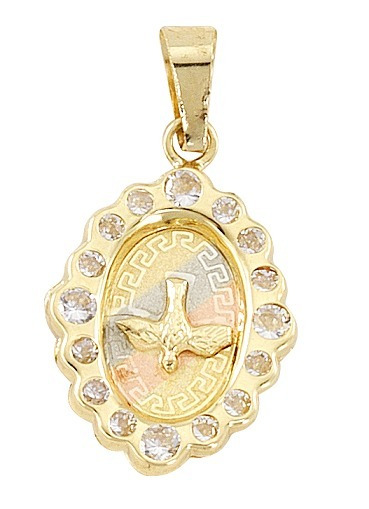 Medalla Rombo 3 Col Espíritu Santo Oro 10k - 747