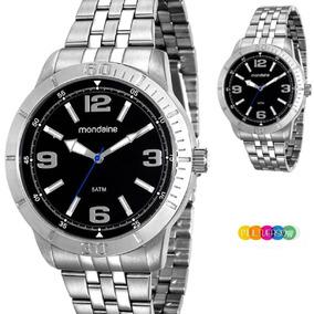Relógio Masculino Mondaine Prata 1 Ano Garantia Frete Grátis