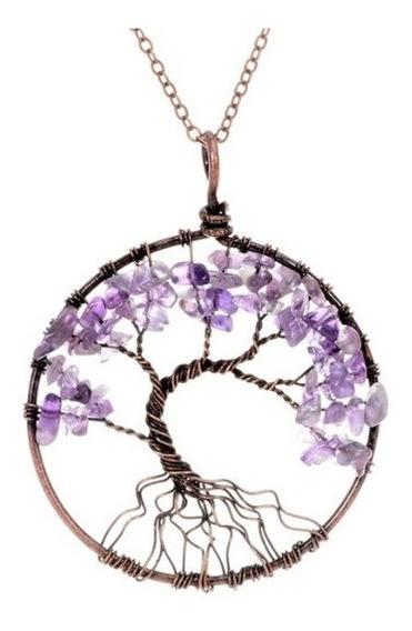 Colar Pedra Cristal Árvore Da Vida Pedras Cristais Promoção