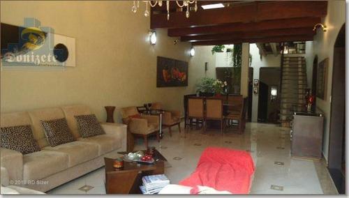 Sobrado Com 3 Dormitórios À Venda, 480 M² Por R$ 1.800.000,10 - Campestre - Santo André/sp - So1187
