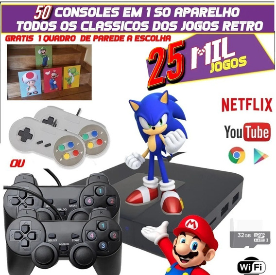 Super Game - Vídeo Game Retro Tv Com 25.000 Jogos 64gb