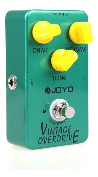 Guitarra Efecto Overdrive Vintage Joyo Pedal True Bypass