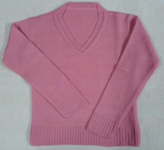 Blusa Rosa V Passeio Suéter Agasalho Infantil Menina Ref.016