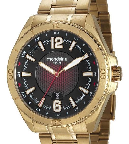 Relógio Mondaine Masculino 53696gpmvds1 Dourado + Nota