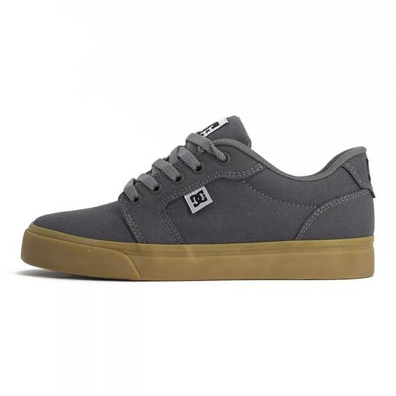 Tenis Dc Shoes Anvil Tx Grey/black/grey Original