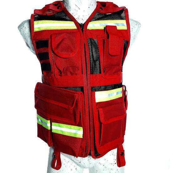 Chaleco Bomberos Emergencias Rescate Paramedico Exclusivos