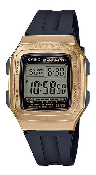 Relógio Digital Feminino Casio F-201wam-9avdf - Dourado